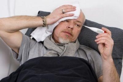 симптомы заболевания: стремительно возрастающая температура, ослабленность, боли головы, снижение аппетита и массы тела