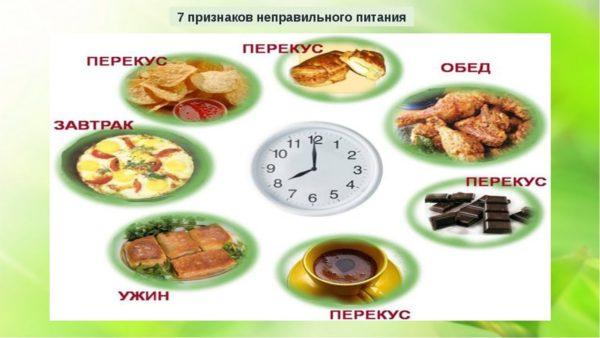 завтрак обед ужин правильное питание схема проектируемого