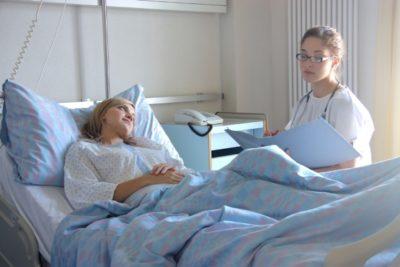 нахождение в стационаре зависит от эффективности лечения