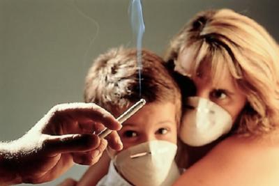пассивное и активное курение увеличивает восприимчивость бронхиальной стенки к инфекции у ребенка и взрослых